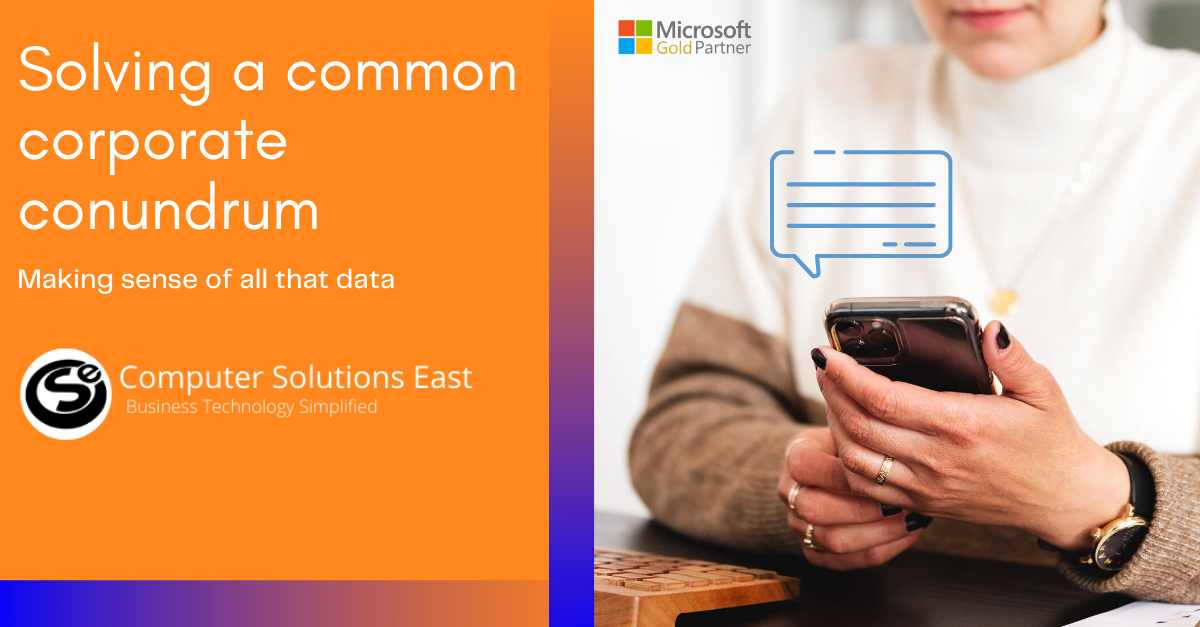 Solving a common corporate conundrum: Making sense of all that data
